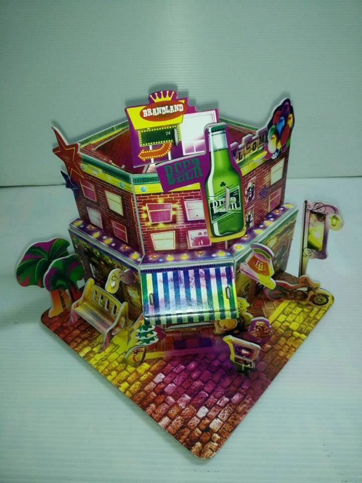 Bar beer model 3d puzzle โมเดล 3 มิติ