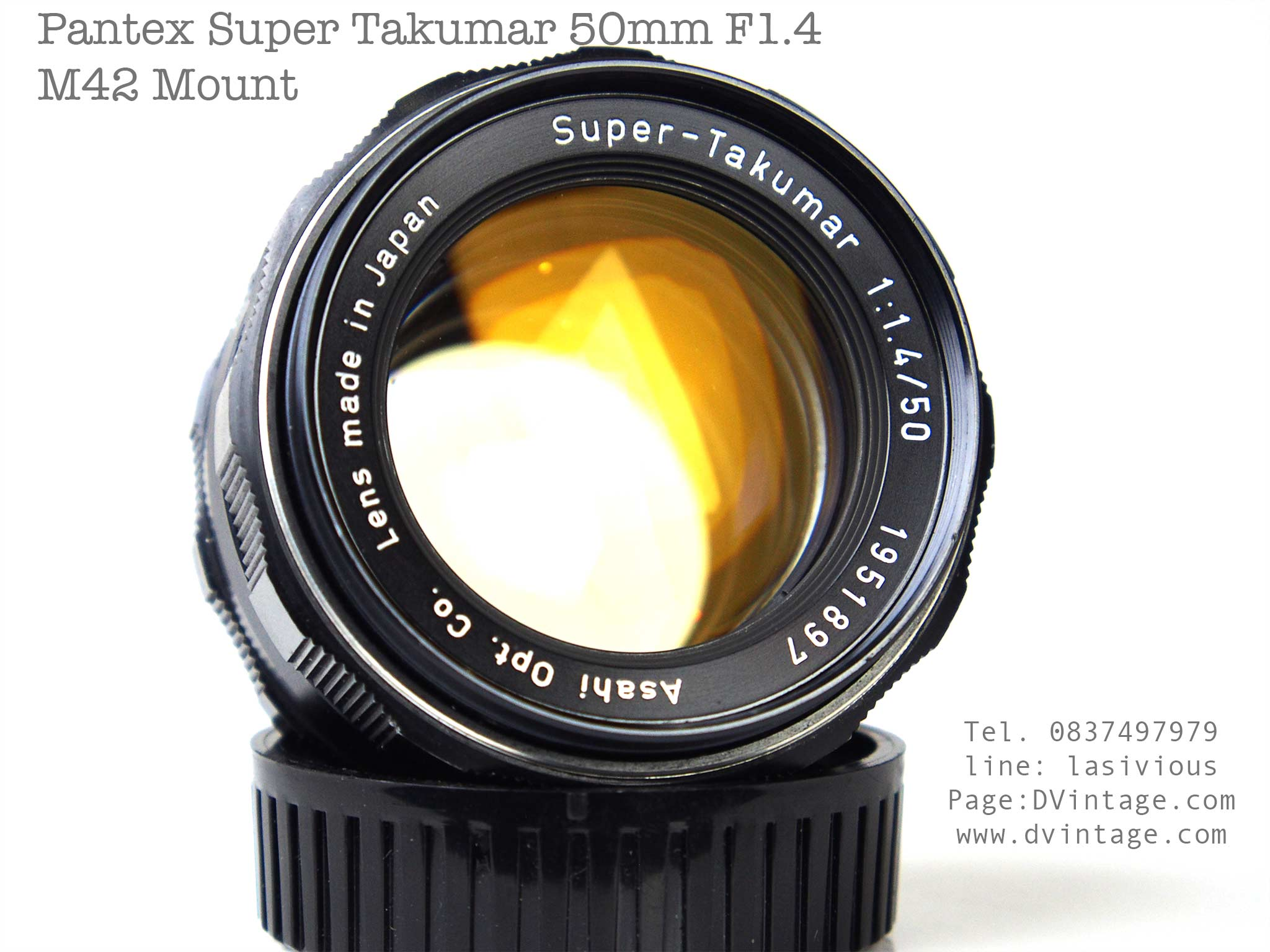 เลนส์ Super takuma 50 1.4 M42 Mount