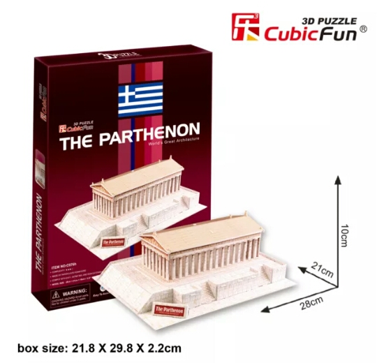 The Papthenon(Greece) พาร์เธนอน Total: 25 pcs Model Size: 28*21*10 cm