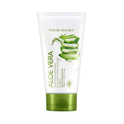++พร้อมส่ง++Nature Republic Soothing & Moisture Aloe Vera Foam Cleanser 150ml