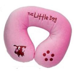 หมอนรองรอบคอตัว U Little Dog (ชมพู)
