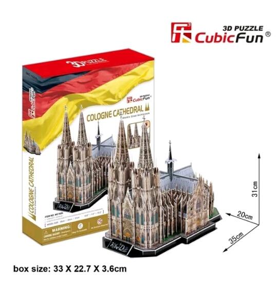 Cologne Cathedral อาสนวิหารโคโลญ size 35*20*31cm. Total 194 pcs.