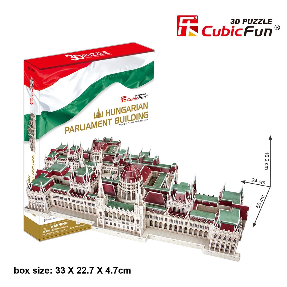 Cubic Fun 3D Puzzle Hungarian Parliament Building Model 50*24*16.2 CM. 237 Pieces