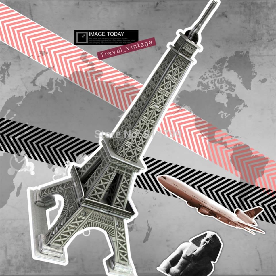 หอไอเฟล Eiffel Tower โมเดล 3 มิติ, จิ๊กซอร์ 3มิติ
