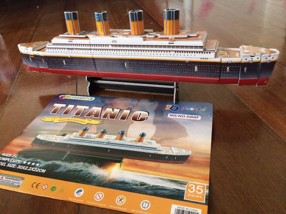 model3dpuzzle Titanic โมเดล เรือไททานิค