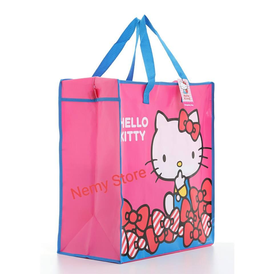 กระเป๋าคิตตี้ Hello Kitty Shopping Bag ลายลิขสิทธิ ทรงสูง ขนาด 50*45*25ซม.ราคาส่ง 80 บาท