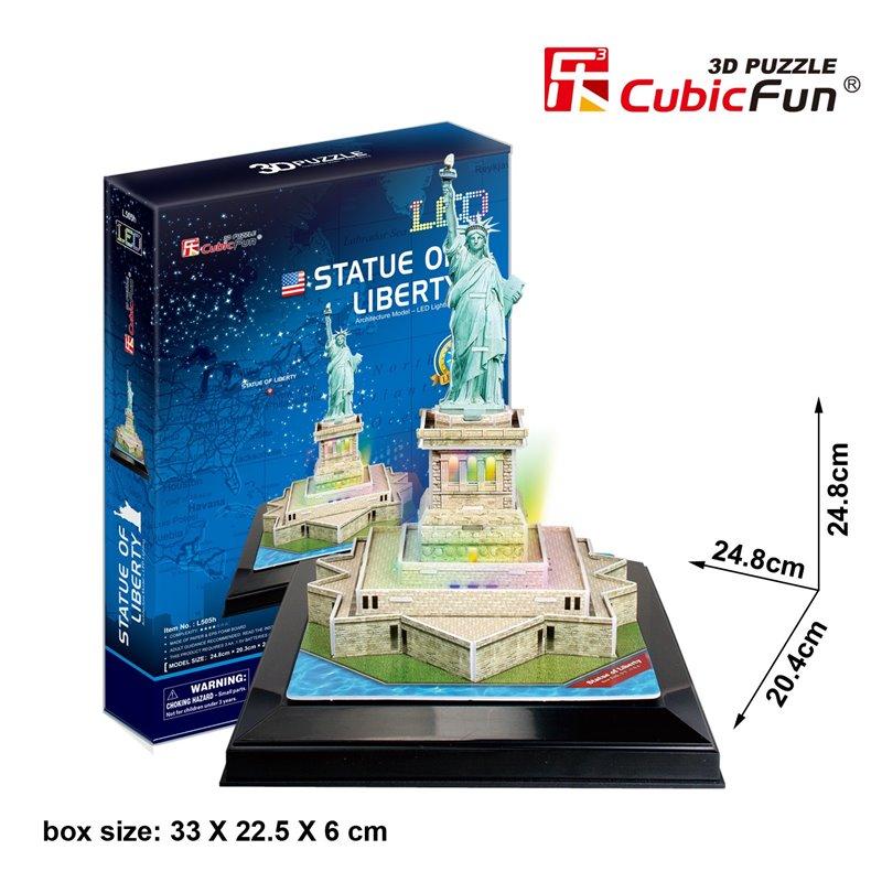 Statue of Liberty อนุสาวรีย์เทพีเสรีภาพ หรือ เทพีเสรีภาพ ขนาด 24.8 X 20.4 X 24.8cm Total 37 pcs.