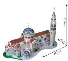 Basilica of the National Shrine อาสนวิหารซอลส์บรี Size 32.5*22.5 cm Total 44 pcs.