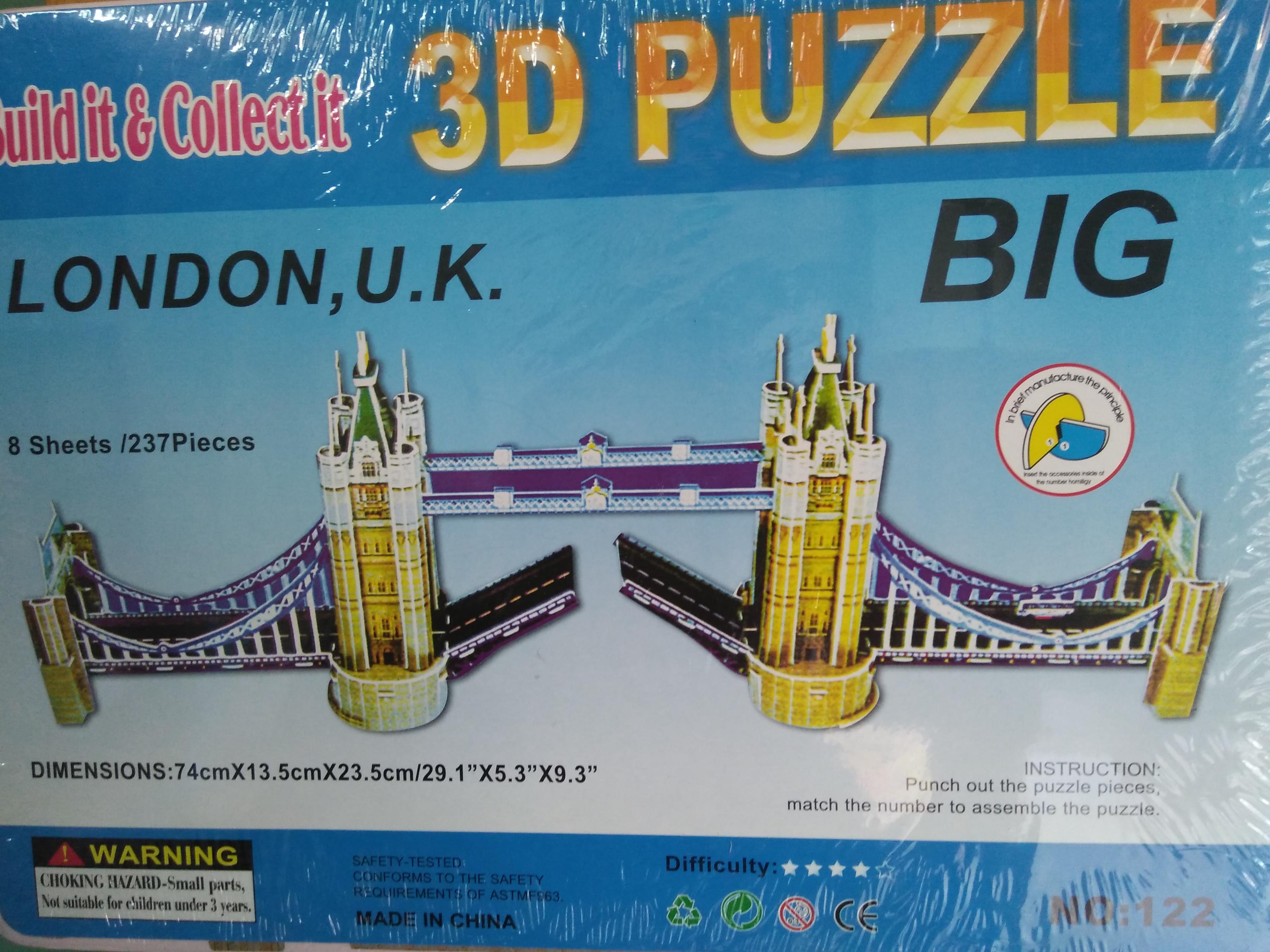 Big 3D Puzzle Dimensions