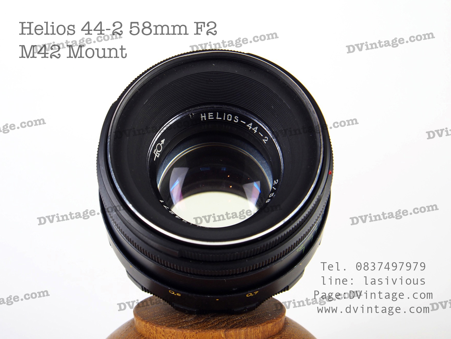 Sold Out ขายแล้วครับ เลนส์มือหมุน Helios 44-2 58mm F2 M42 Mount s/n 80184271