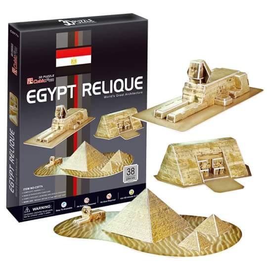Egyptian pyramids(Egypt) พีระมิดอียิปต์ Total: 38 pcs Model Size: 48*18*12.5 cm.