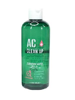 ++พร้อมส่ง++Etude House AC Clean up Cleansing Water 300ml/non-comedogenic คลีนซิ่งสูตรน้ำ เช็ดทำความผิวหน้าอย่างหมดจด
