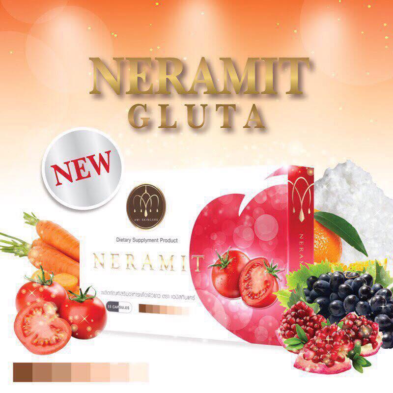Neramit Gluta Lycopene by Ami Skincare เนรมิต กลูต้า ไลโคปีน กลูต้ามะเชือเทศ ขนาด 15 เม็ด