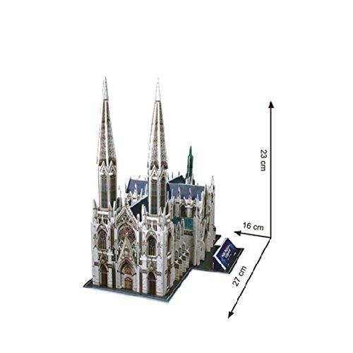 Saint patrick's cathedral วิหารเซนต์แพทริก Size 27*16*23 cm total 75 pcs.