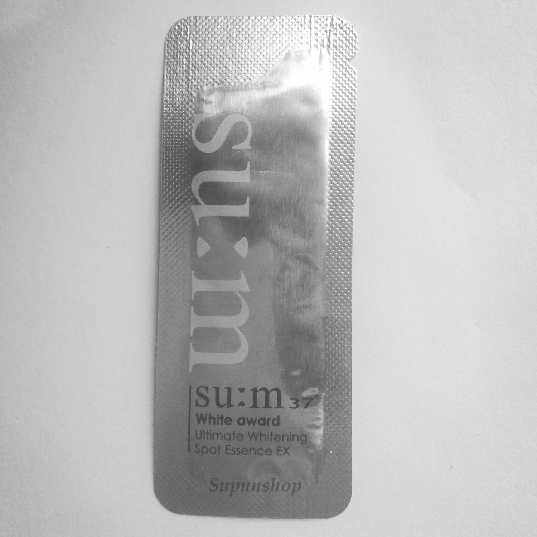 ++พร้อมส่ง++Su:m 37 White Award Ultimate Whitening Spot Essence EX sample 1ml ช่วยลบเลือนจุดด่างดำ รอยแดง ฝ้า กระ เห็นผลภายใน 14 วัน