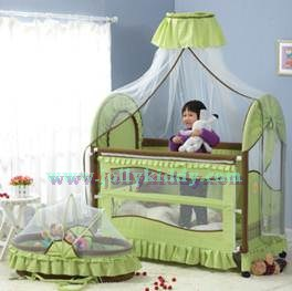 TB21012 เตียงนอนเด็ก (สไตล์ยุโรป) สีเขียว