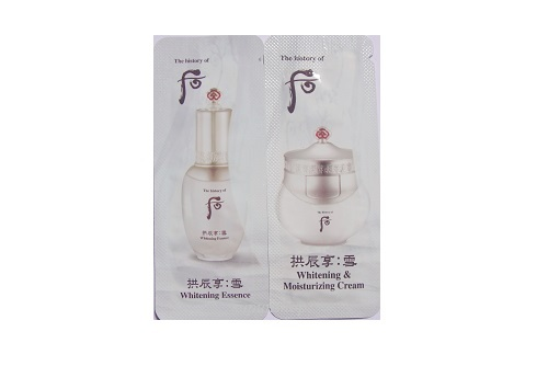 ++พร้อมส่ง++The History of Whoo Gongjinhyang Seol Whitening Moisture Cream & Essence 2ml(2ซอง)