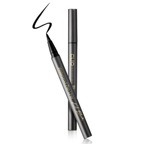 ++Pre order++ CLIO Waterproof Pen Liner Kill Black No.01 Kill Black ปากกาเขียนขอบตากันน้ำ หัวแปรงนุ่ม ยืดหยุ่น แข็งแรง ให้สีติดทนนาน เขียนง่าย ไม่เลอะ แห้งไวเพียง 15 วินาที ล้างออกง่าย