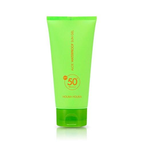 ++พร้อมส่ง++Holika Holika Aloe Waterproof Sun Gel SPF50+ PA++++ 100ml ครีมกันแดดเนื้อเจลจากว่านหางจระเข้ 78% (สำหรับผิวหน้าและผิวกาย)