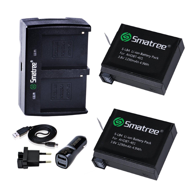 แบตเตอรี่ GoPro 4 ยี่ห้อ Smatree® Hero4 (Dual charger)