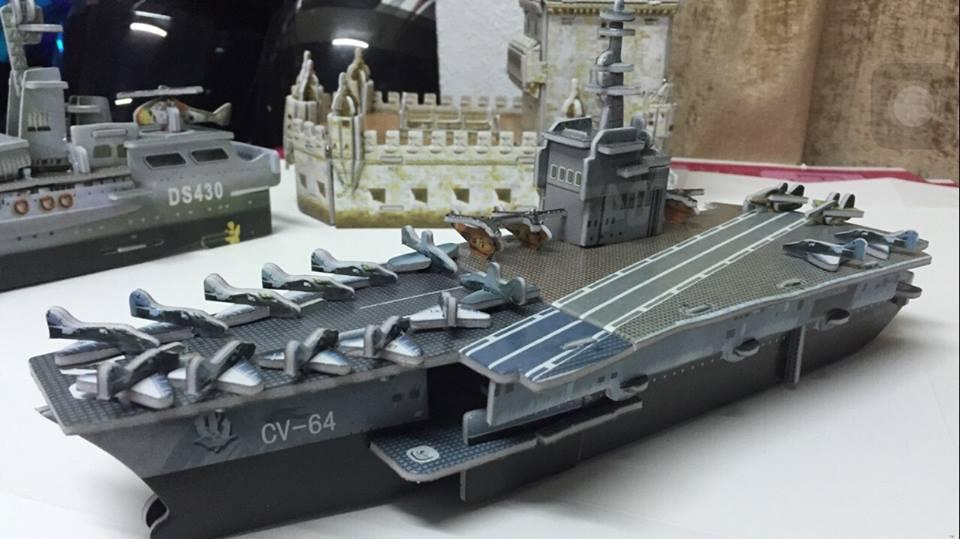 เรือรบ CV64 Ship Super Model 3D Puzzle โมเดลกระดาษ 3มิติ