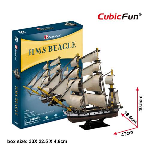 HMS Beagle Model Size 47*18.4*40.5 cm. Total 186 pcs.