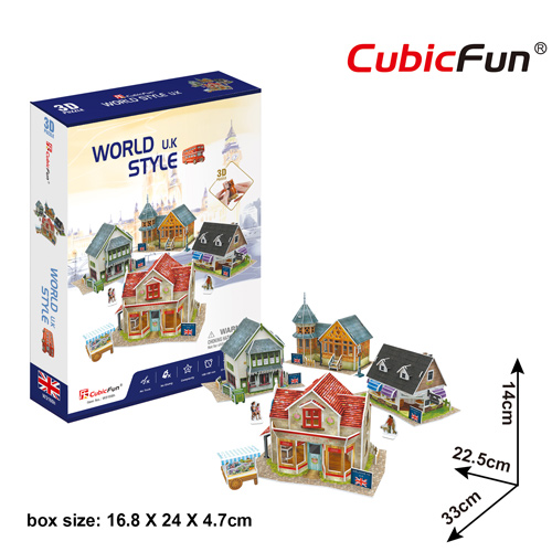 World Style Series 3D UK Size: 33 x 22.5 x 14 cm จำนวน 171 ชิ้น Cubic Fun Thailand 3D Shop Puzzle