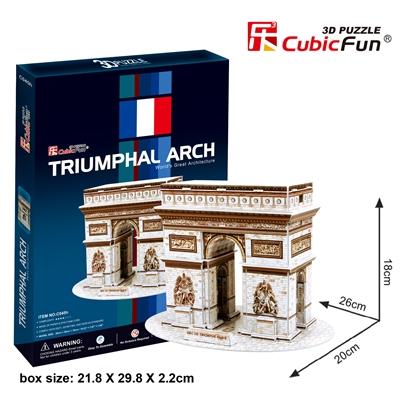ARC DE Triomphe Triumphal Arch(France) ประตูชัยฝรั่งเศษ Total: 26 pcs. Model Size: 26*20*18 cm.