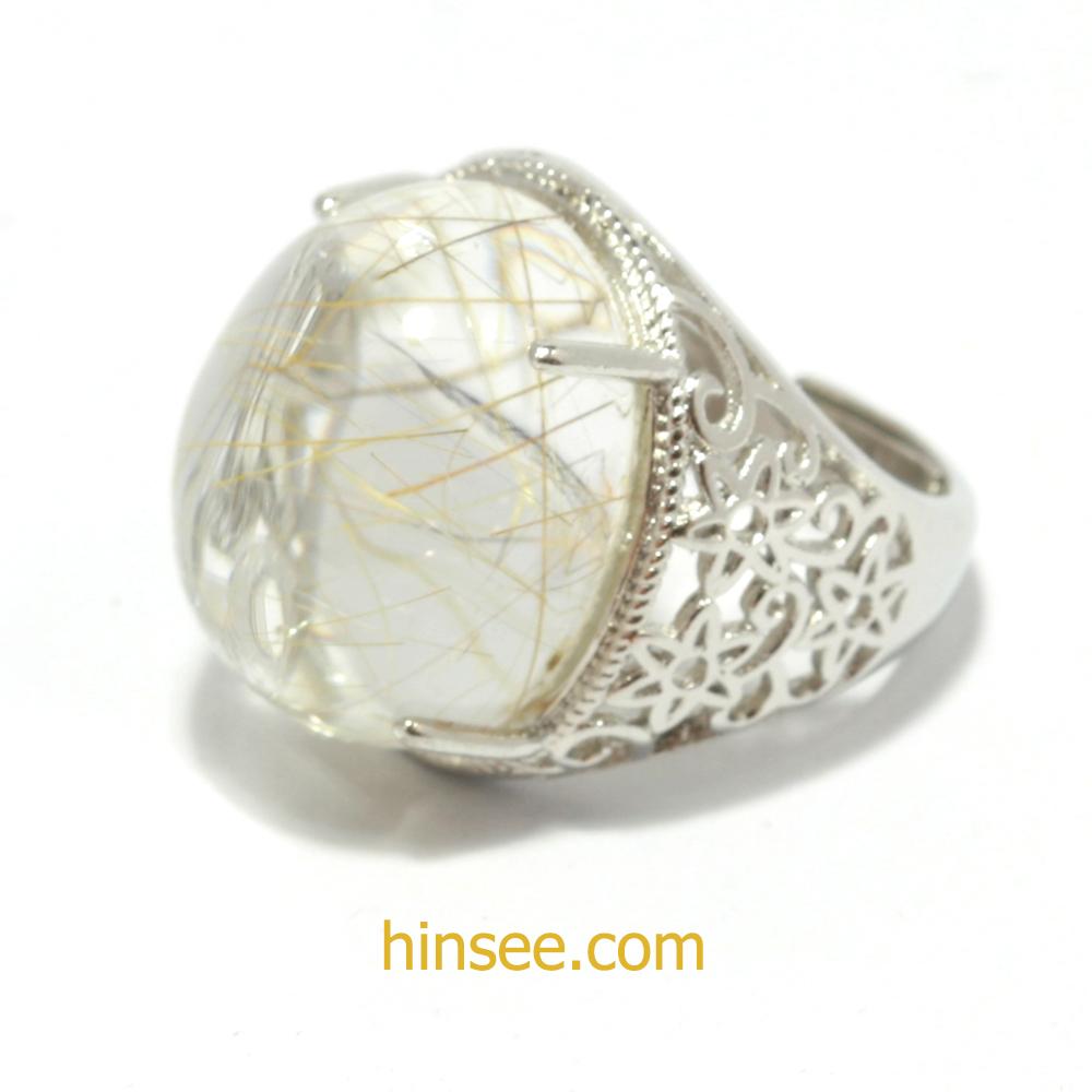 แหวนไหมทอง Rutilated Quartz