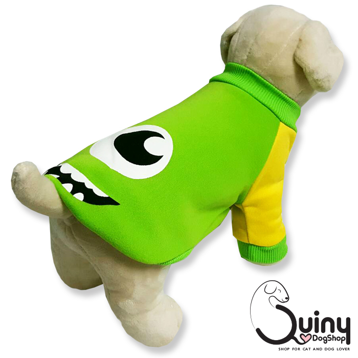 เสื้อสุนัข มอนเตอร์ สีเขียว