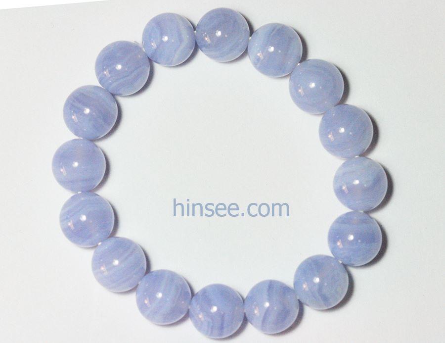 สร้อยข้อมือบลูเลซอาเกต Blue lace agate