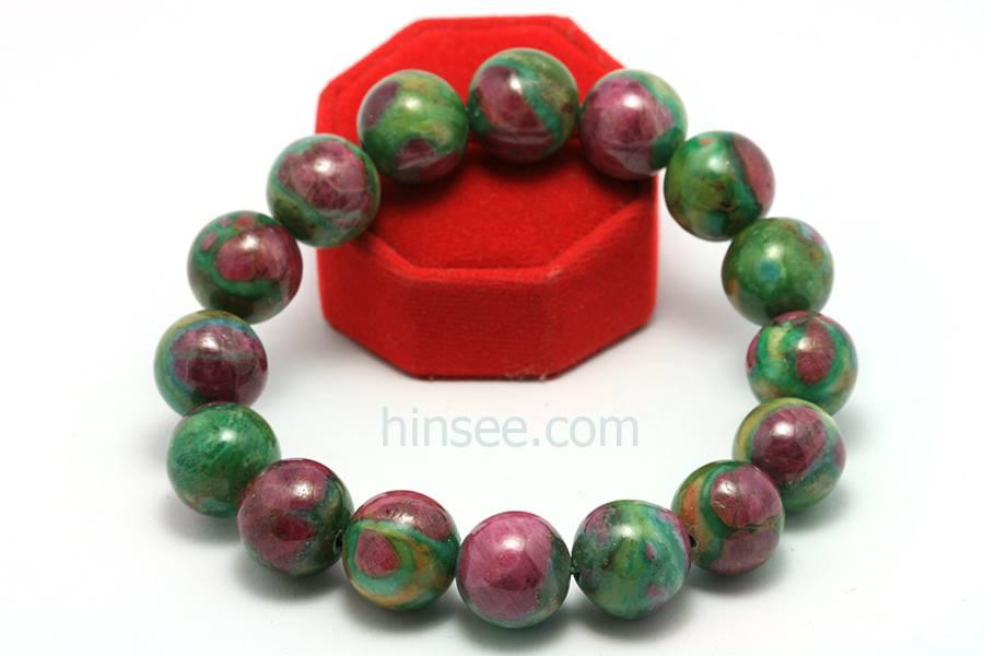 กำไลหินสี Ruby in-Zoisite