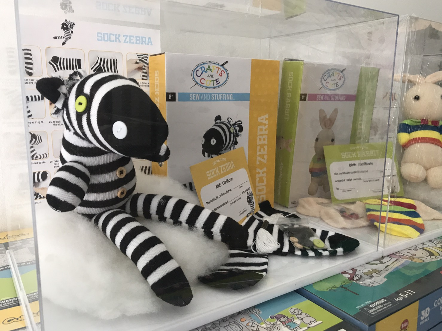 Crafts and Cute Sew and Stuffing Sock Zebra Size 18*11*7 cm.