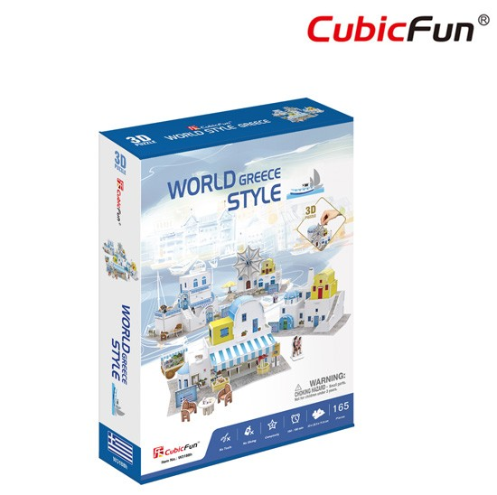 World Style Series 3D Greece Size: 32 x 22.5 x 10 cm จำนวน 165 ชิ้น Cubic Fun Thailand 3D Shop Puzzle