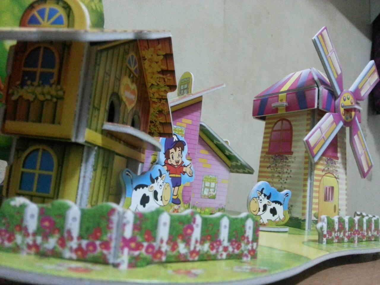 Review โมเดล 3มิติ จิ๊กซอร์ 3มิติ ชุดตัวต่อกระดาษโฟม Happiness is handmade. DIY