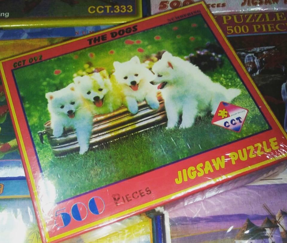 Jigsaw 500 ชิ้น จิ๊กซอว์รูปสุนัขน้อย น่ารัก