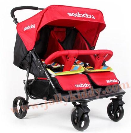 C10190 รถเข็นเด็ก น้องคู่แฝด SeeBaby (MT22) สีแดง