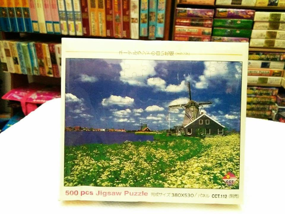 ภาพวิวทิวทัศน์ บ้าน กระท่อม จิ๊กซอร์ 500 ชิ้น Numbering Jigsaw Puzzle 500 Pieces Size 53 x 38 cm.