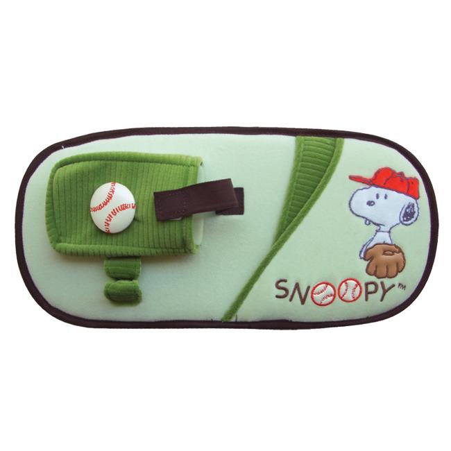 ที่ใส่ของแนบที่บังแดด Snoopy (เบสบอลเขียว)