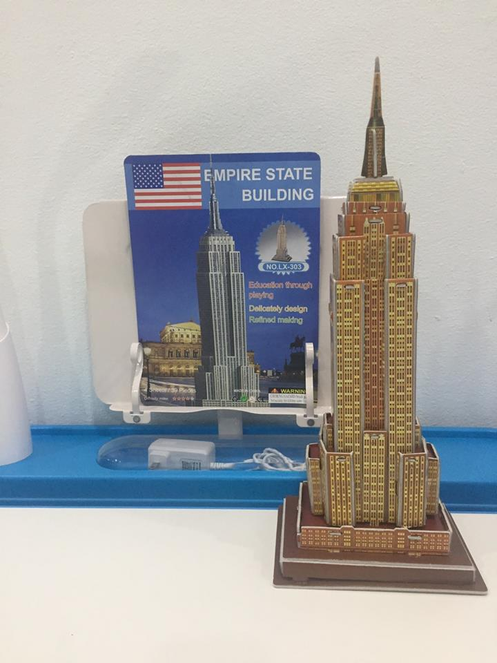 Empire State Super 3D puzzle DIY for Education โมเดล 3 มิติ