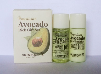 ++พร้อมส่ง++Skinfood Premium Avocado Rich Gift Set Samples 2 ชิ้น เซตบำรุงผิวจากสารสกัดอะโวคาโด ให้ผิวชุ่มชื่น กระชับ ยืดหยุ่น