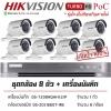 HIKVISION ((Camera Pack 8 )) DS-2CE16D0T-IRE X8 + DS-7208HQHI-K2/P