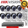 HIKVISION (( Camera SET 8 )) HD1080P (DS-2CD2022WD-I x 8, DS-7608NI-E2/8P x 1) HIKVISION SET 8Channel Turbo HD 1080P 8 Camera 1 DVR