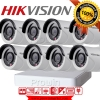 Hikvision ชุดกล้องวงจรปิด HD720P (DS-2CE16C0T-IR x 8, DS-7108HGHI-F1 x 1) HIKVISION SET 8Channel Turbo HD 720P 8 Camera 1 DVR