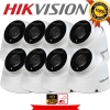 HIKVISION (( Camera Pack 8 )) DS-2CE56C0T-IT3 x8 (HD 720P)