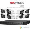 Hikvision 3MP (ชุดสุดโปรโมชั่นกล้อง 8 ตัว ) (DS-7204HUHI-F1 X1 + DS-16F7T-IT3 X8)