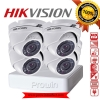 Hikvision (( Camera Set 4 )) (DS-2CE56C0T-IR x 4, DS-7104HGHI-F1 x 1) 720p