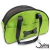 กระเป๋าใส่สุนัข ลายกระดูก สีเขียว