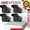 HIKVISION (( Camera Set 4 )) HD720P (DS-2CE16C0T-IT3 x 4, DS-7104HGHI-F1 x 1)