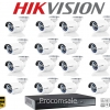 Hikvision (( Camera Set 16 )) HD720P (DS-2CE16C0T-IR x 16, DS-7216HGHI-E1 x 1)